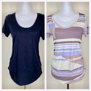 Old Navy Maternity T Shirts Bundle of 2 Black Blue